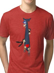 SuperWhoLock Tie Tri-blend T-Shirt