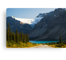 Riding the Icefields Parkway Canvas Print