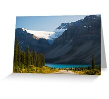 Riding the Icefields Parkway Greeting Card