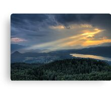 When the sun goes down Canvas Print