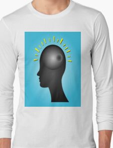 Concept of IDEA with human head Long Sleeve T-Shirt