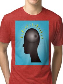 Concept of IDEA with human head Tri-blend T-Shirt