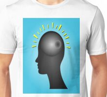 Concept of IDEA with human head Unisex T-Shirt