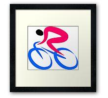 Cyclist Icon Framed Print