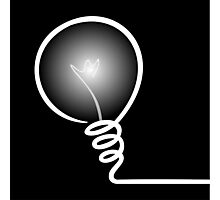 Concept of IDEA with Light bulb Photographic Print