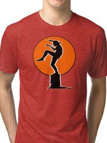 Karate Kid Crane Kick Tri-blend T-Shirt