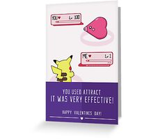 PokéLove Purple Greeting Card