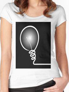 Concept of IDEA with Light bulb Women's Fitted Scoop T-Shirt