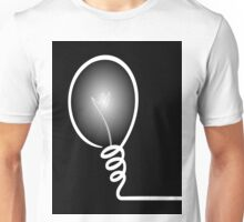 Concept of IDEA with Light bulb Unisex T-Shirt