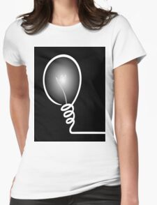 Concept of IDEA with Light bulb Womens Fitted T-Shirt