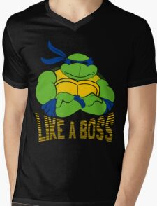 Like a Boss Mens V-Neck T-Shirt