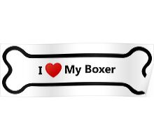 I Love My Boxer Poster