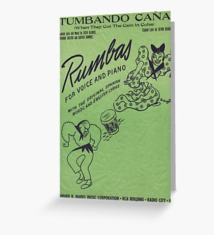 TUMBANDO CANA (vintage illustration) Greeting Card