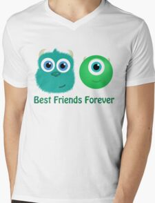 Best Friends, Mike and Sully Mens V-Neck T-Shirt