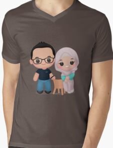 Cute Newly Married Mens V-Neck T-Shirt