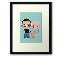 Cute Newly Married Framed Print
