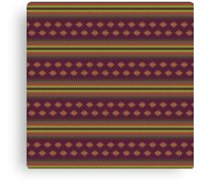 """""""Ugly"""" Sweater Striped Print Canvas Print"""
