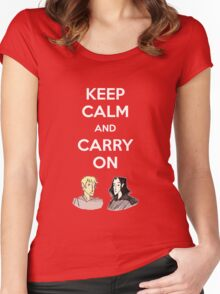 Carry On, Simon Women's Fitted Scoop T-Shirt