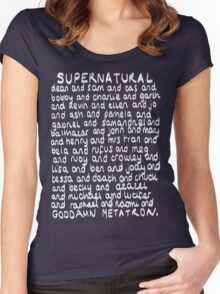 The Characters of Supernatural Women's Fitted Scoop T-Shirt