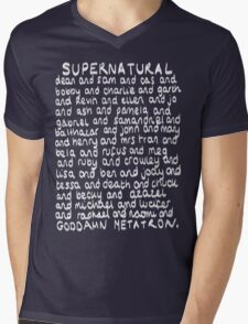 The Characters of Supernatural Mens V-Neck T-Shirt
