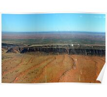 Flying into Alice Springs Poster