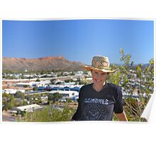 Anzac Hill, Alice Springs Poster