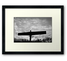 Angel Dawn (BW) Framed Print