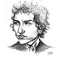 Bob Dylan Sketch Portrait Photographic Print