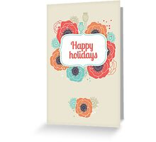 Colorful Poppies Greeting Card