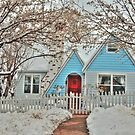 Snowy Cottage In The Spring by K D Graves Photography