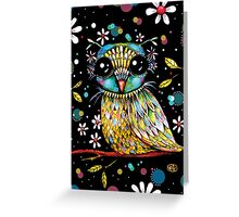 The Peridot Owl Greeting Card