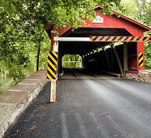Through The Rishel Covered Bridge Again by Gene Walls