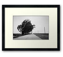 Oklahoma Route 66, 2012, B&W. Framed Print