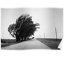 Oklahoma Route 66, 2012, B&W. Poster