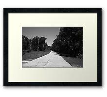 Missouri Route 66, 2012, B&W. Framed Print
