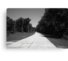 Missouri Route 66, 2012, B&W. Canvas Print