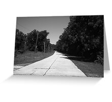 Missouri Route 66, 2012, B&W. Greeting Card
