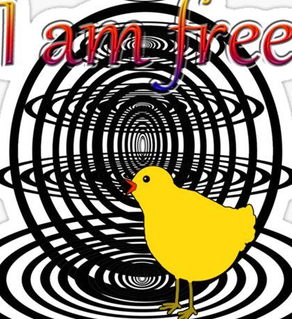 I am free Sticker