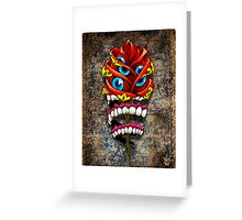 Zombie Rose of Voudoon Greeting Card