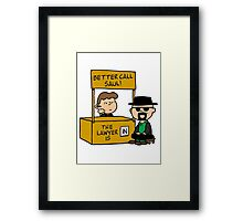 Better call Peanuts Framed Print