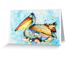 Mr Pelican Greeting Card