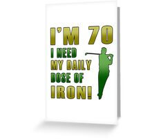 70th Birthday For Golf Lovers Greeting Card