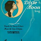 DEAR OLD DIXIE MOON  (vintage illustration) by ART INSPIRED BY MUSIC