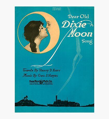 DEAR OLD DIXIE MOON  (vintage illustration) Photographic Print