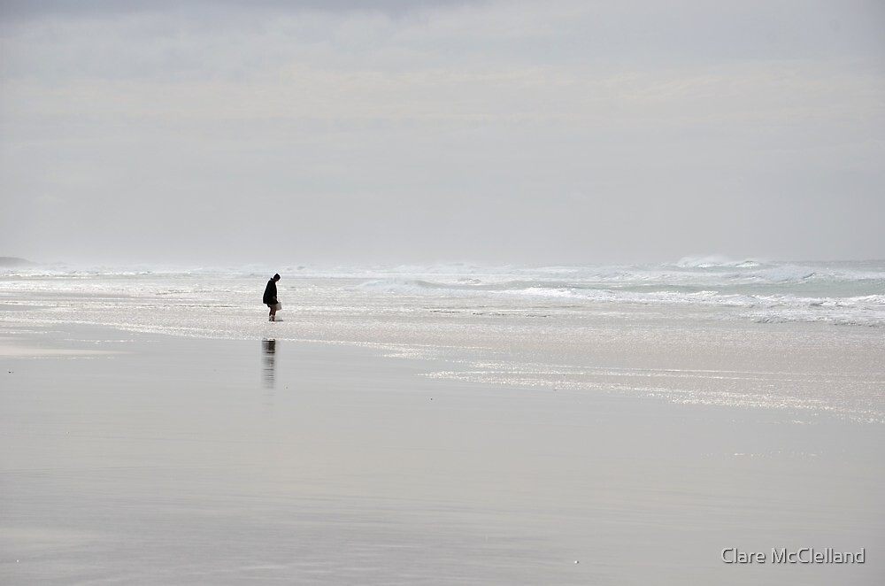One Man and Winter Sea by Clare McClelland