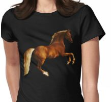 George Stubbs Whistlejacket - 1762 (for black background) Womens Fitted T-Shirt