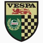 Vespa Castrol Shield by Scooterist