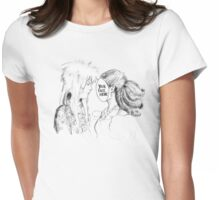 Your Face Here, Bowie (no background) Womens Fitted T-Shirt
