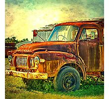 Old Rusty Bedford Truck Photographic Print