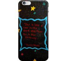 Black cat in the darkness. iPhone Case/Skin